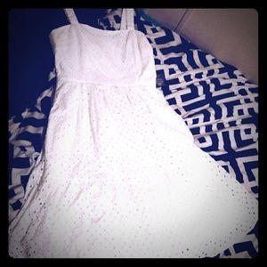 Vince Camuto Eyelet Sleeveless Sun Dress Ivy NWT
